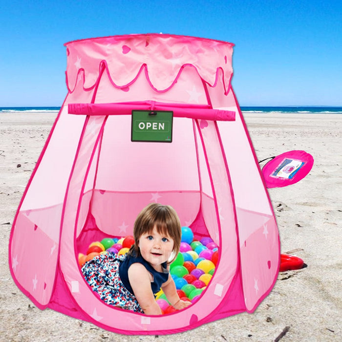 Play Kreative Pink Princess Girls POP UP TENT with carry Case.  Lovely Birthday - PlayKreative.com