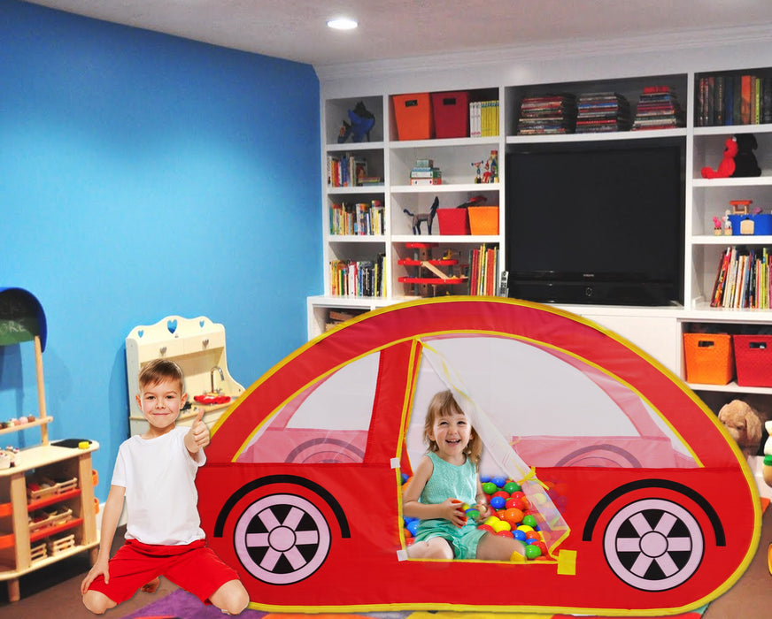 Play Kreative Red Racing Car Pop Up Play Tent – Pretend vehicle Kids Playhouse