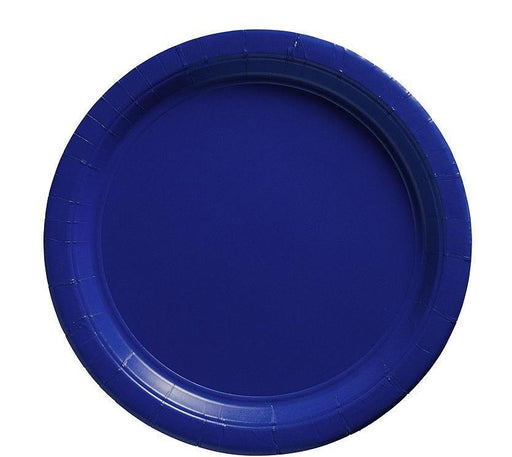 Royal Blue Lunch Plates - 7 Inch - 50 Pack
