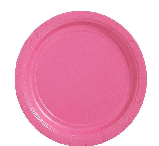 Bright Pink Lunch Plates - 7 Inch - 50 Pack