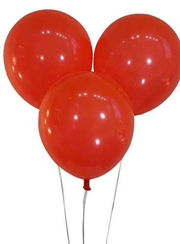 Bright Red 12 Inch Latex Balloons - Pack of 100 Pieces