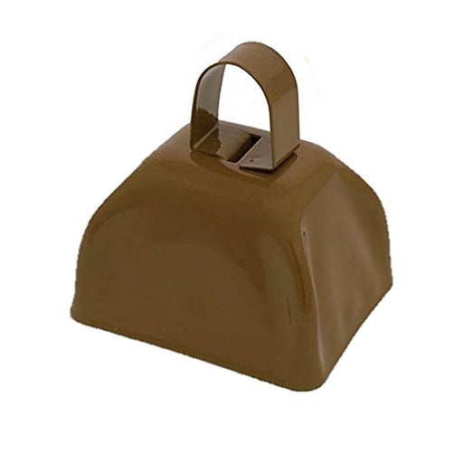 Brown Metal Cowbell Noisemakers - School Cowbells Set 12 Pack - Play Kreative - PlayKreative.com