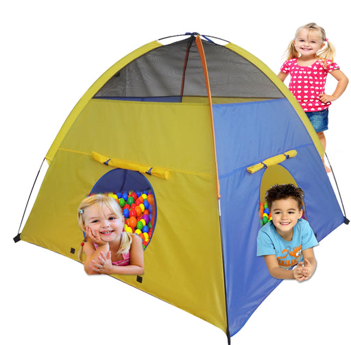 Play Kreative Kids pop up Camping Tent - Bright Colorful Play Tent for indoor Ch - PlayKreative.com