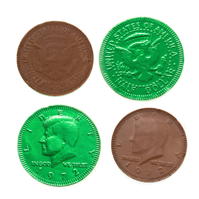 St Patrick's Day Green Chocolate Coins - 1b