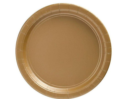 Gold Lunch Plates - 7 Inch - 50 Pack