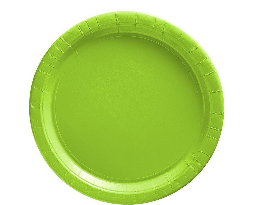 Lime Green Lunch Plates - 7 Inch - 50 Pack