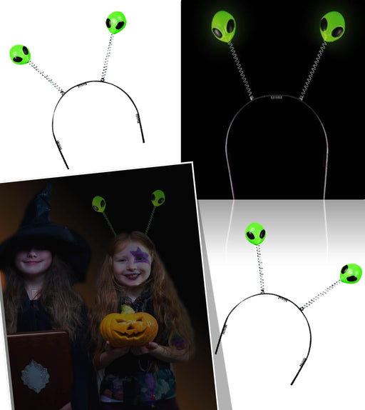 Play Kreative Glow In The Dark Alien Head Boppers - Set of 12