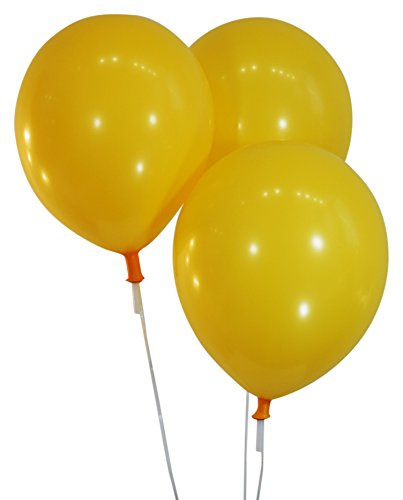Marigold Marine 12 Inch Latex Balloons - Pack of 100 Pieces