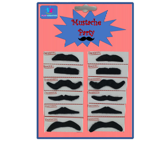 Play Kreative Self Adhesive Fake Mustaches for Halloween Disguise Mustache Party - PlayKreative.com