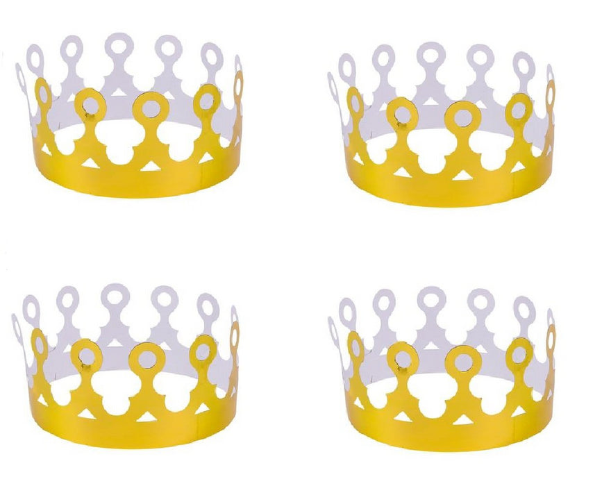 Gold Foil Crowns - Pack of 12