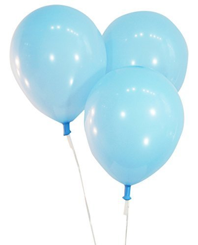 Pastel Baby Blue  12 Inch Latex Balloons - Pack of 100 Pieces