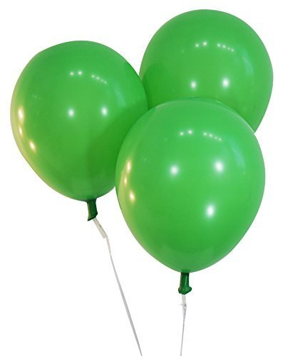 Pastel Green 12 Inch Latex Balloons - Pack of 100 Pieces