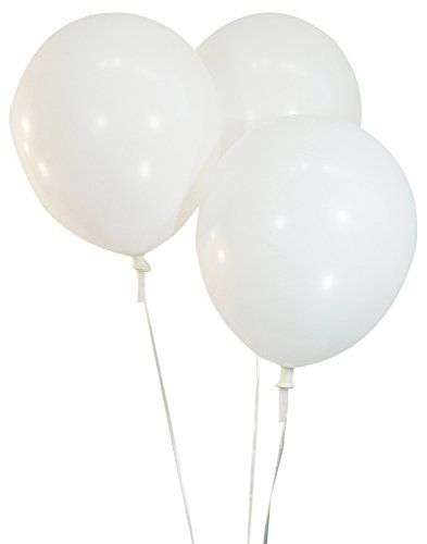 Pastel White 12 Inch Latex Balloons - Pack of 100 Pieces