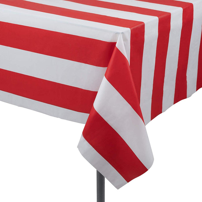 Patriotic Red Strip Table Cover