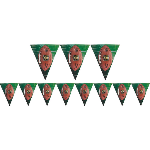 NFL Drive Collection  Football Pennant Banner - Pack of 6