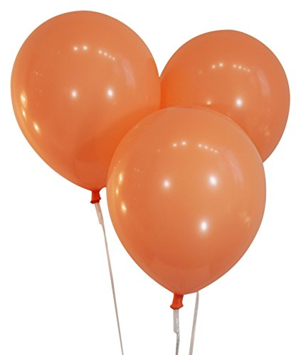 Peach 12 Inch Latex Balloons - Pack of 100 Pieces