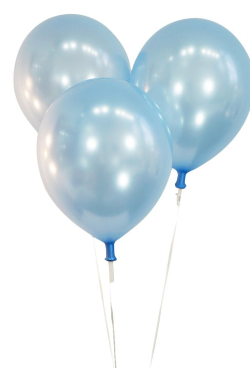 Pearlized Light Blue 12 Inch Latex Balloons - Pack of 100 Pieces
