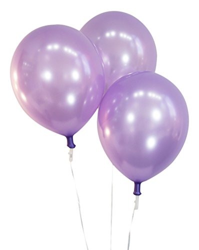 Pearlized Lavender 12 Inch Latex Balloons - Pack of 100 Pieces