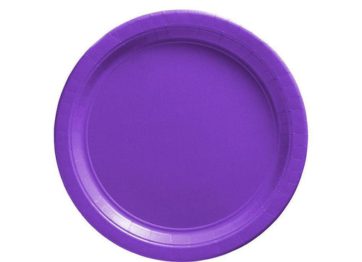 Purple Lunch Plates - 7 Inch - 50 Pack