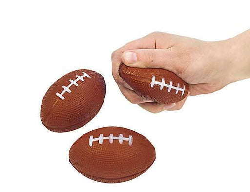 Mini Foam Football Stress Balls - Pack of 12