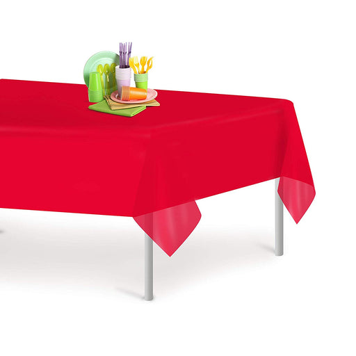Solid Color Plastic Table Covers - Choose Color