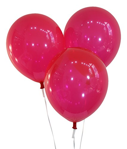 Ruby Red 12 Inch Latex Balloons - Pack of 100 Pieces