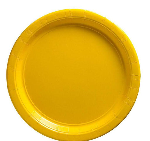 Yellow Lunch Plates - 7 Inch - 50 Pack
