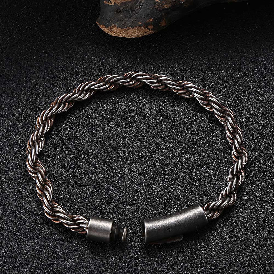 6mm Twist Stainless Steel Bracelet