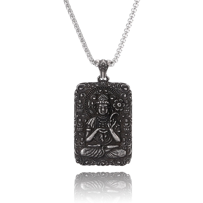 Buddha Statue Pendant Necklace