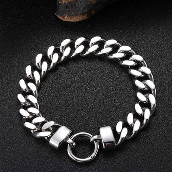 Men Simple Stainless Steel Bracelets