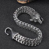12mm Stainless Steel  Chain Wolf Head