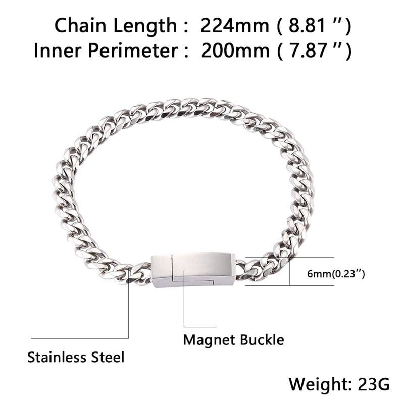 Stainless Steel  Men Bracelet
