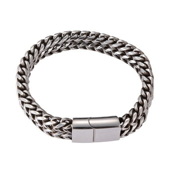 Double Layer Stainless Steel Bracelet
