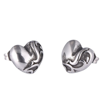 Girl Earrings Stainless Steel Heart Shaped