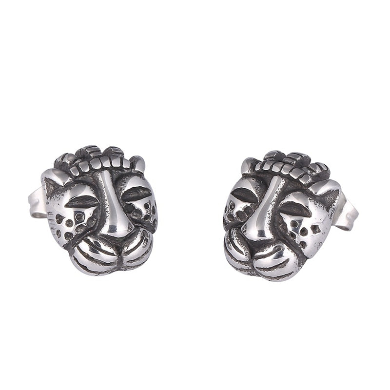 Leopard Head Earrings