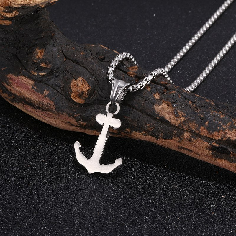 Pirate Anchor Pendant Men's Necklace