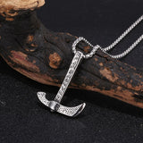 Trendy Stainless Steel Hoe Pendant Necklace