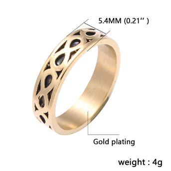 Simple Gold Color Infinity Ring