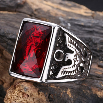 Stainless Steel American Soldier Eagle Ring