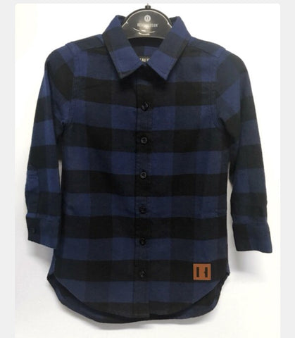 Beau Hudson Black and Blue Oversized Shirt