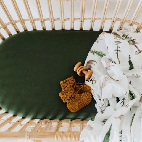 Olive Bassinet Sheet | Change Cover