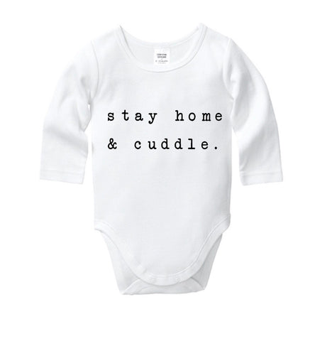 Stay Home & Cuddle Onesie