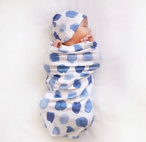 Ocean Skies Swaddle Sack and Beanie Set