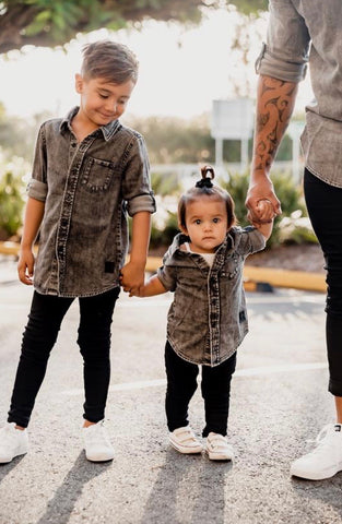 Beau Hudson Black Denim Kids Shirt