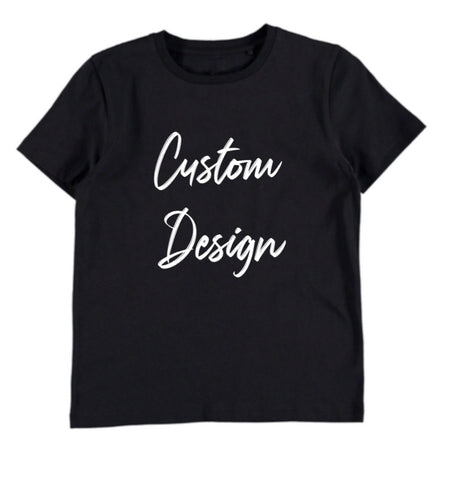 Custom Design Kids T-shirt - Black