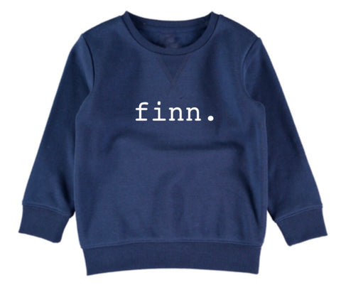Personalised Name Jumper - Navy