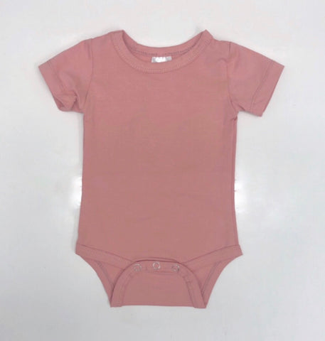 Blush Pink Short Sleeve Onesie - BYCS Original