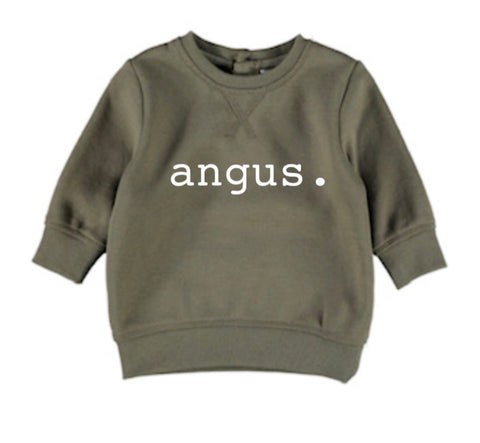 Personalised Name Jumper - Military