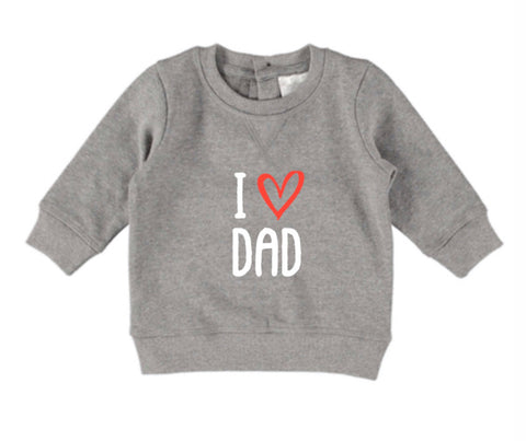 I Heart Dad Jumper - Dark Grey