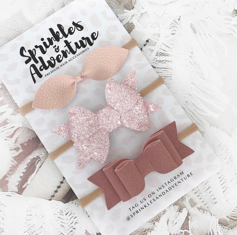 Sprinkles and Adventure Vintage Bow Set
